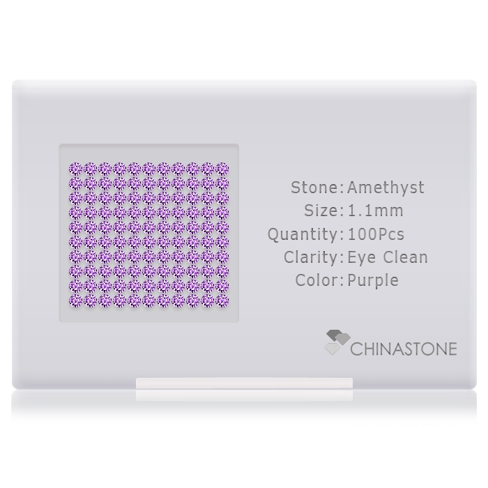 Amethyst lot of 100 stones