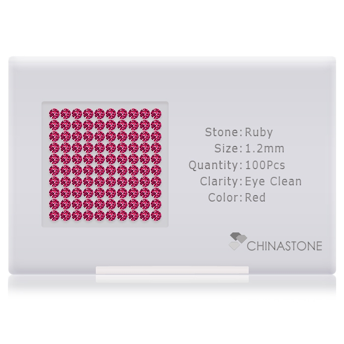 Ruby lot of 100 stones