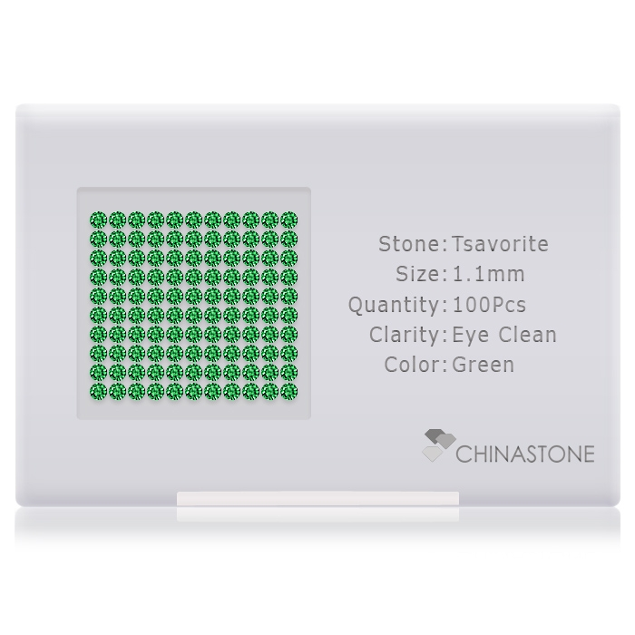 Tsavorite lot of 100 stones