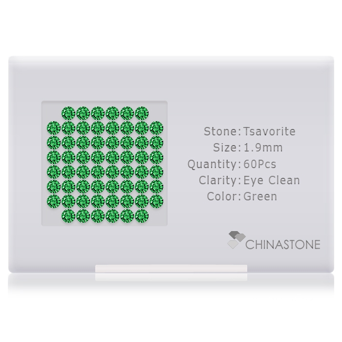 Tsavorite lot of 60 stones
