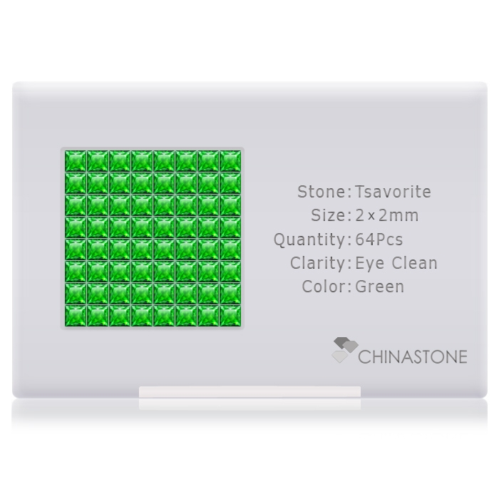 Tsavorite lot of 64 stones